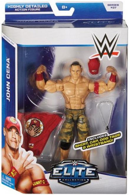 WWE Wrestling Elite Collection Series 37 John Cena Action Figure [Shirt, Cap, Dog Tags & Wristband]