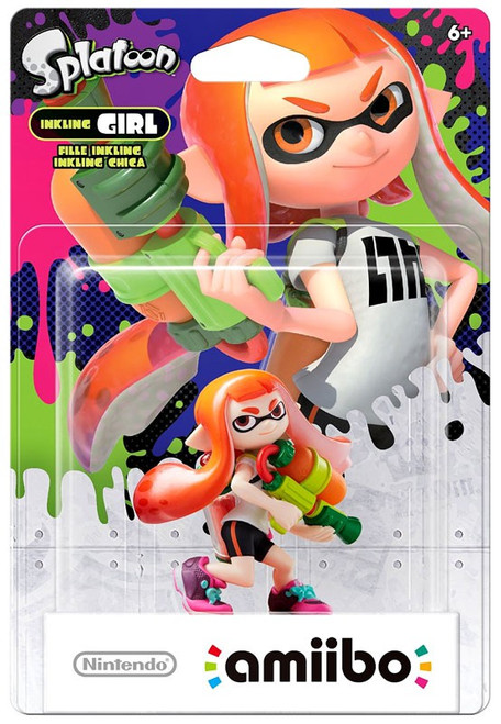 Nintendo Splatoon Amiibo Inkling Girl Mini Figure [Orange]