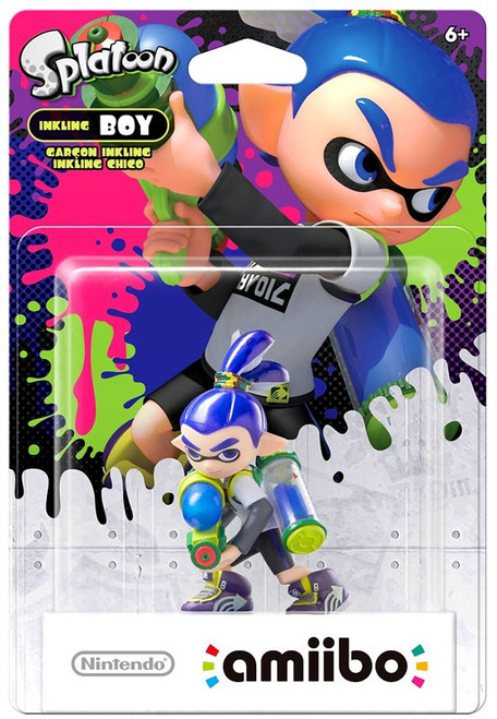 Nintendo Splatoon Amiibo Inkling Boy Mini Figure [Blue]