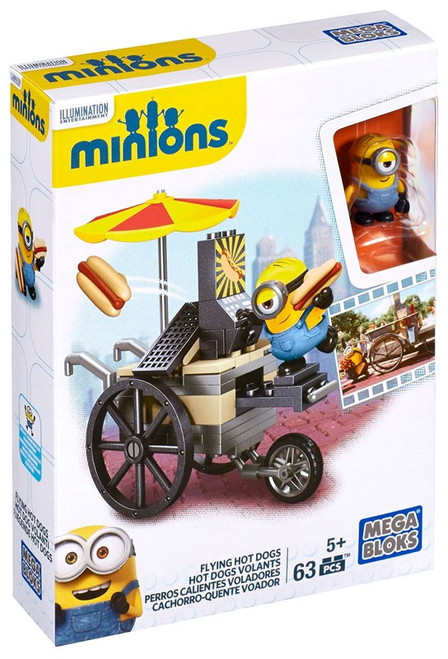 Mega Bloks Minions Flying Hot Dogs Set #38020