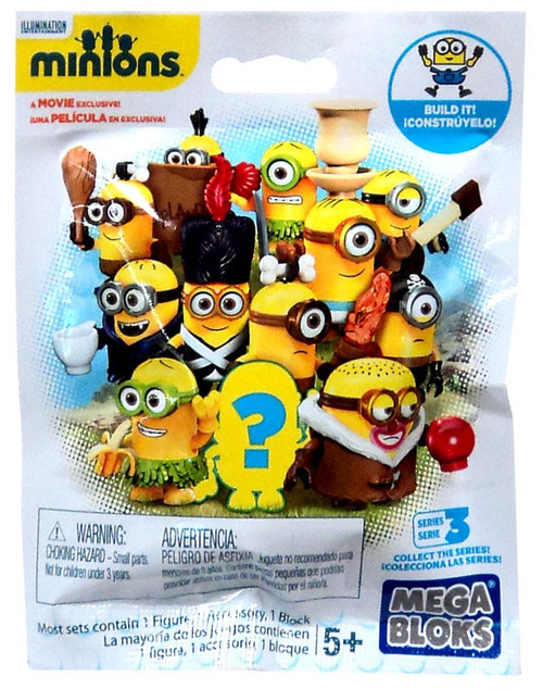 Mega Bloks Mystery Minions Series 3 Mystery Pack #29210 [Soft Pack]