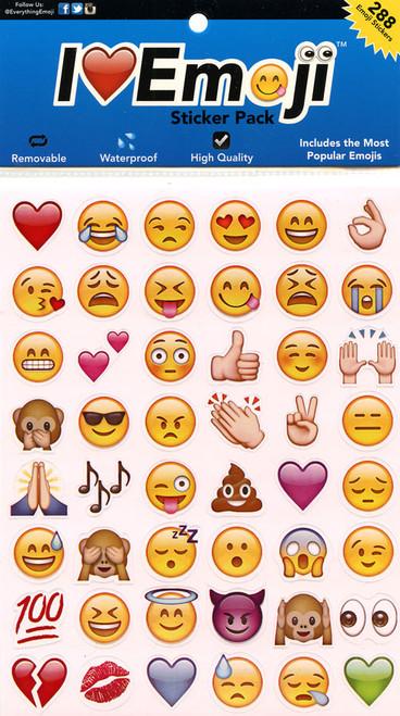 I Heart Emoji Sticker Sheet