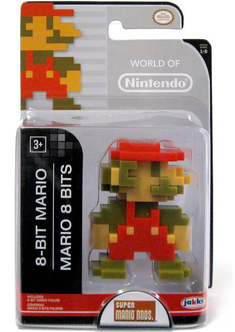 World of Nintendo Super Mario Bros. 8 Bit Mario 2.5-Inch Mini Figure [Version 2]