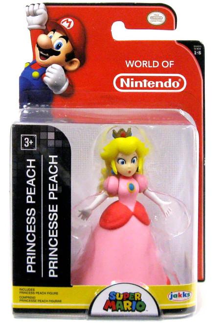 World of Nintendo Super Mario Princess Peach 2.5-Inch Mini Figure