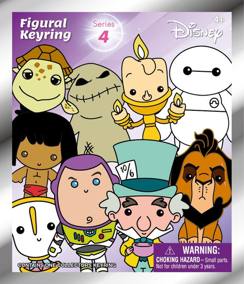 3D Figural Keyring Disney Series 4 Mystery Pack