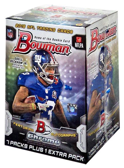 NFL Topps 2015 Bowman Chrome Football Trading Card BLASTER Box [7 Packs + 1 Extra Pack]
