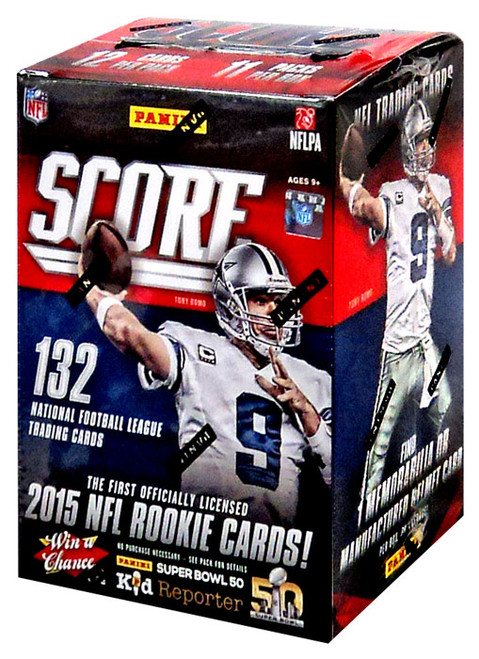 NFL Panini Score 2015 Trading Card BLASTER Box [11 Packs]
