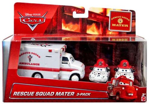 Disney / Pixar Cars Cars Toon Multi-Packs Rescue Squad Mater 3-Pack Exclusive Diecast Car Set [Ambulance, Dalmation Mia & Tia]