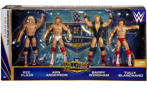WWE Wrestling Hall of Fame Ric Flair, Arn Anderson, Barry Windham & Tully Blanchard Action Figure 4-Pack [The Four Horsemen]