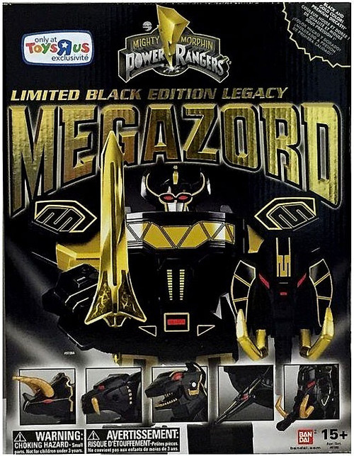 Power Rangers Mighty Morphin Legacy Black Edition Megazord Exclusive Action Figure