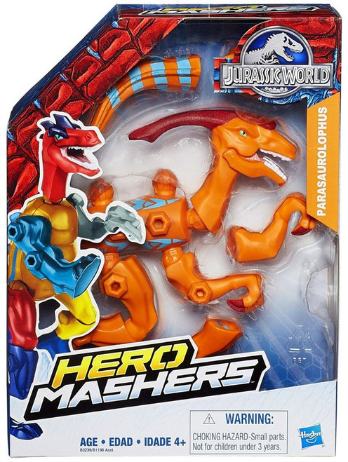 Jurassic World Hero Mashers Parasaurolophus Action Figure