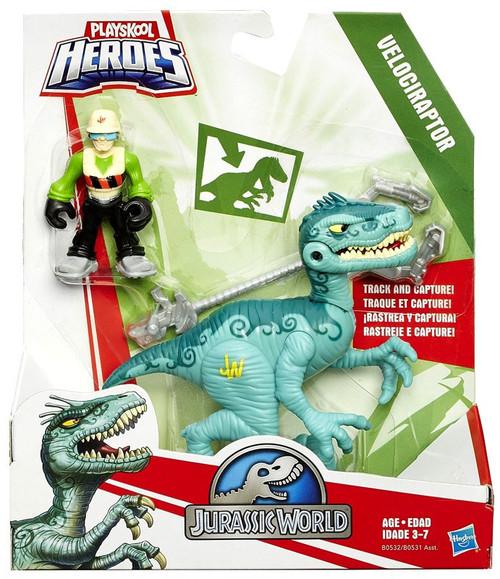 Jurassic World Playskool Heroes Dino Tracker Velociraptor Action Figure