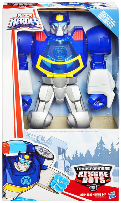 """Transformers Playskool Heroes Rescue Bots Chase The Police-Bot 11"""" Action Figure [Epic Series]"""