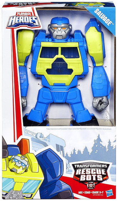 """Transformers Playskool Heroes Rescue Bots Salvage 11"""" Action Figure [Epic Series]"""