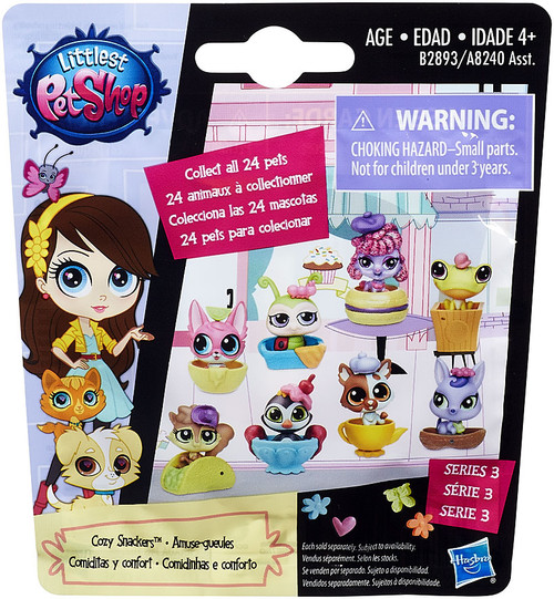 Littlest Pet Shop 2015 Series 3 Cozy Snackers Mystery Pack