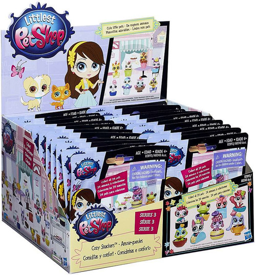 Littlest Pet Shop 2015 Series 3 Cozy Snackers Mystery Box [24 Packs]