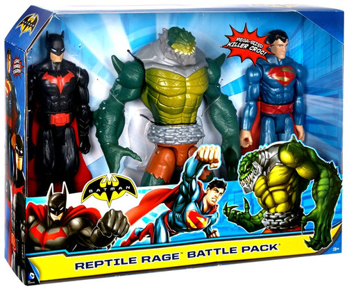 Batman Reptile Rage Battle Pack [Batman, Superman & Killer Croc]