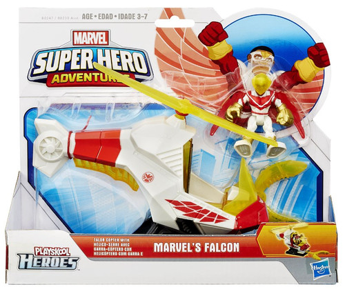 Playskool Heroes Super Hero Adventures Marvel's Falcon with Talon Copter Action Figure Set