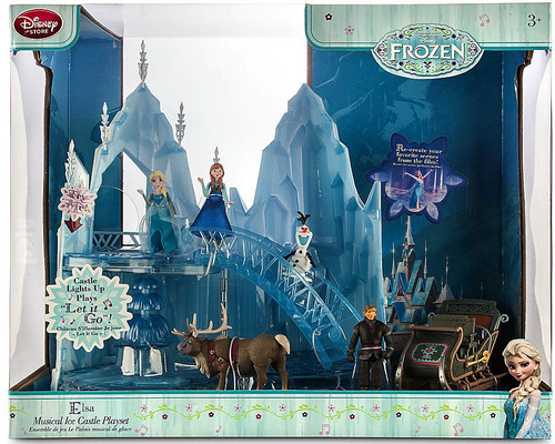 Disney Frozen Elsa Musical Ice Castle Playset [2nd Version with Sleigh]