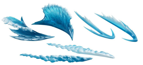Tamashii Effect Wave Blue Action Figure Accessory