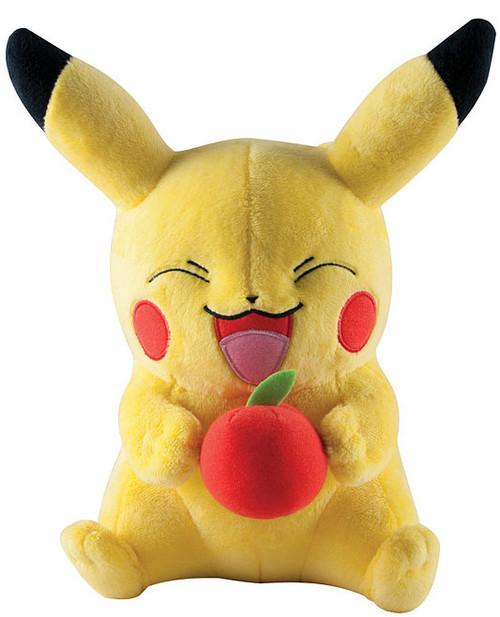Pokemon Pikachu 10-Inch Large Plush [Holding Apple]