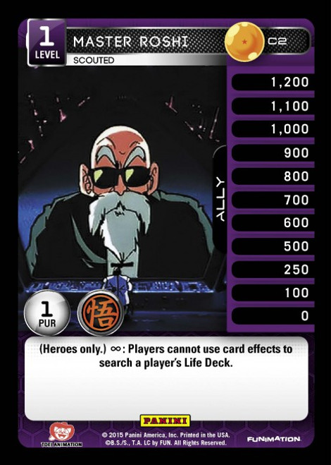 Dragon Ball Z CCG Movie Collection Common Master Roshi - Scouted C2