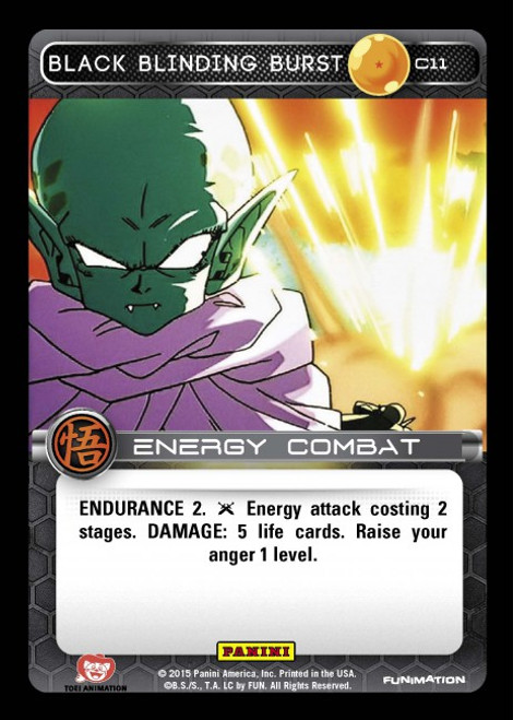 Dragon Ball Z CCG Movie Collection Common Black Blinding Burst C11