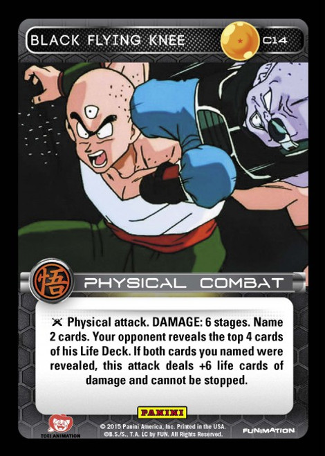 Dragon Ball Z CCG Movie Collection Common Black Flying Knee C14