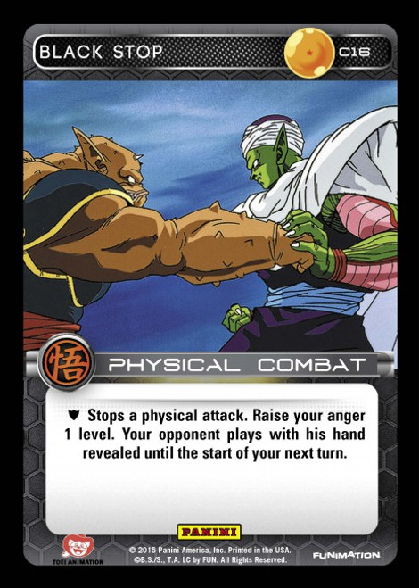 Dragon Ball Z CCG Movie Collection Common Black Stop C16