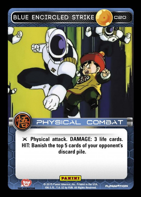 Dragon Ball Z CCG Movie Collection Common Blue Encircled Strike C20