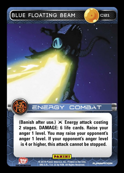 Dragon Ball Z CCG Movie Collection Common Blue Floating Beam C21