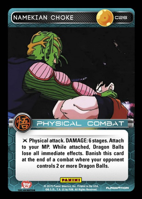 Dragon Ball Z CCG Movie Collection Common Namekian Choke C26