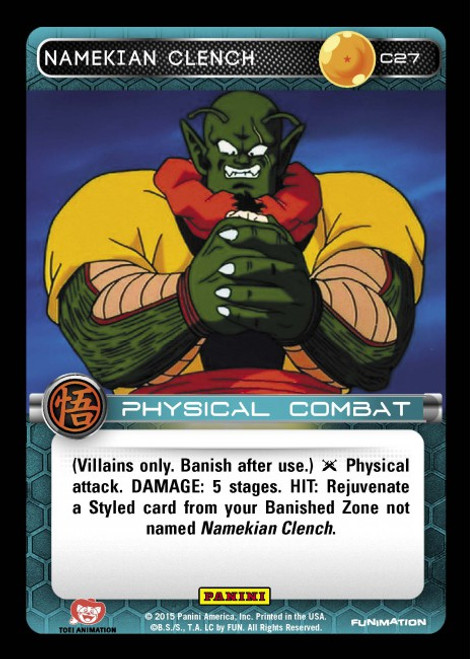 Dragon Ball Z CCG Movie Collection Common Namekian Clench C27