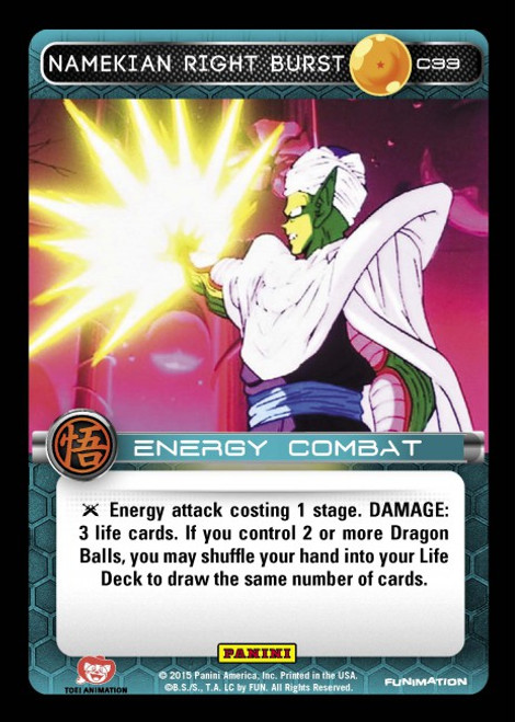 Dragon Ball Z CCG Movie Collection Common Namekian Right Burst C33