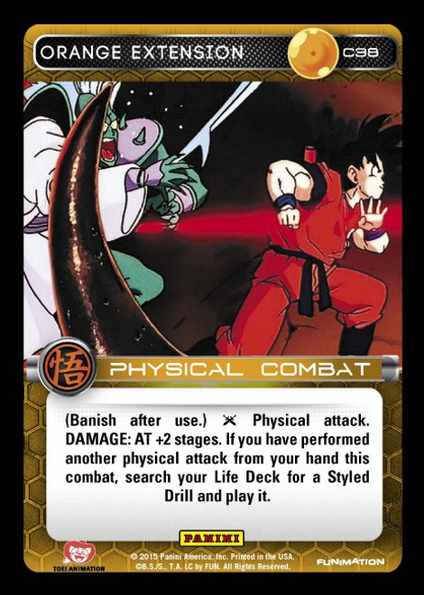 Dragon Ball Z CCG Movie Collection Common Orange Extension C38