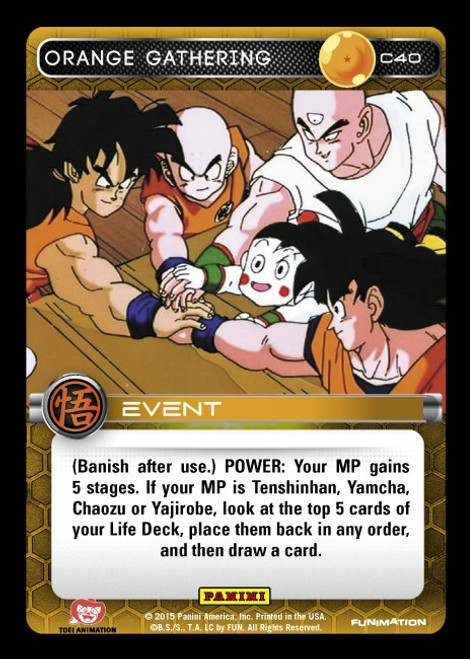 Dragon Ball Z CCG Movie Collection Common Orange Gathering C40