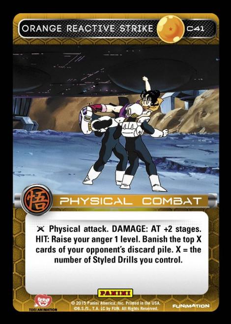 Dragon Ball Z CCG Movie Collection Common Orange Reactive Strike C41