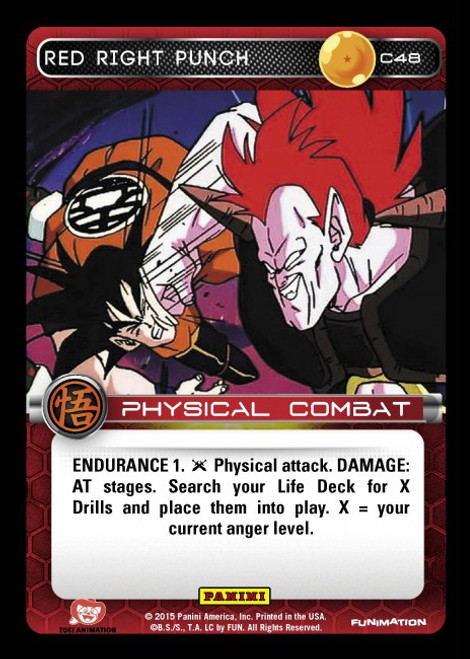 Dragon Ball Z CCG Movie Collection Common Red Right Punch C48