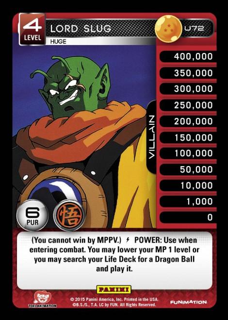 Dragon Ball Z CCG Movie Collection Uncommon Lord Slug - Huge U72