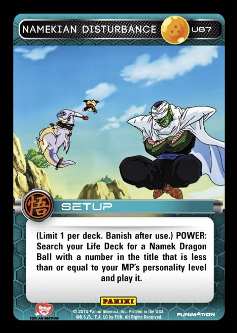 Dragon Ball Z CCG Movie Collection Uncommon Namekian Disturbance U87