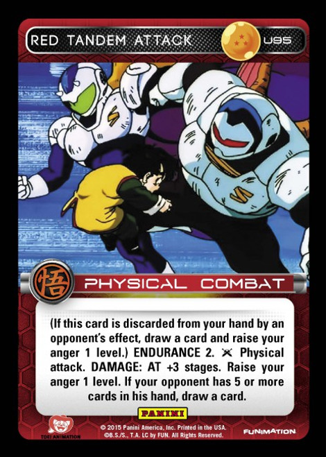 Dragon Ball Z CCG Movie Collection Uncommon Red Tandem Attack U95