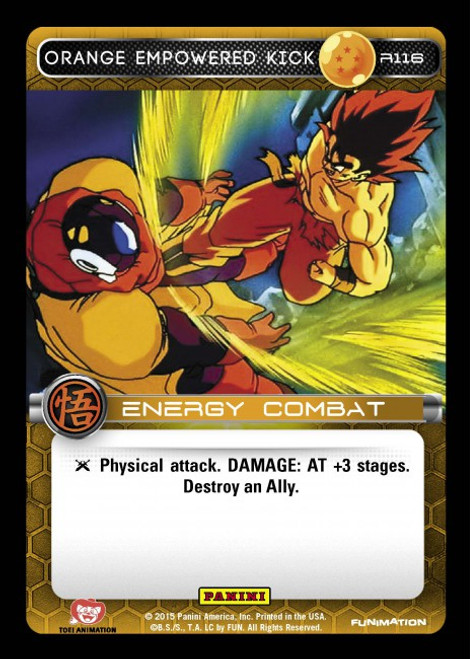 Dragon Ball Z CCG Movie Collection Rare Orange Empowered Kick R116