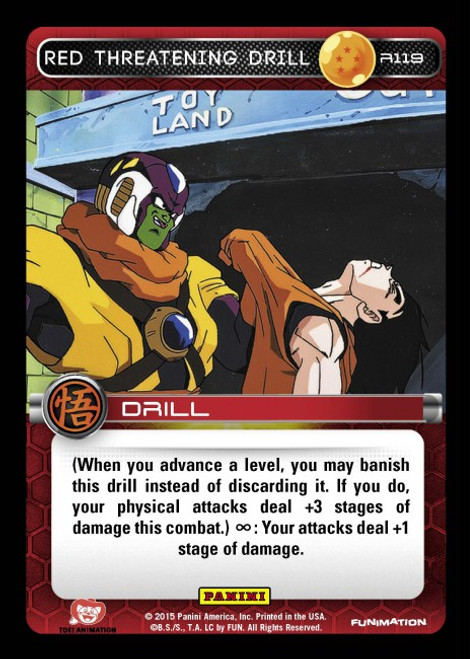 Dragon Ball Z CCG Movie Collection Rare Red Threatening Drill R119