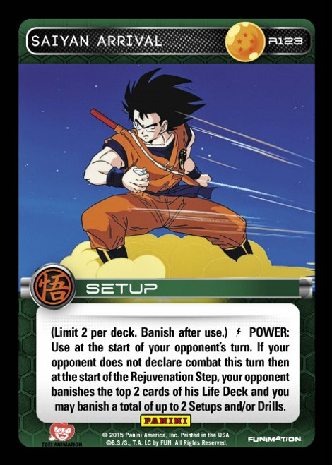 Dragon Ball Z CCG Movie Collection Rare Saiyan Arrival R123