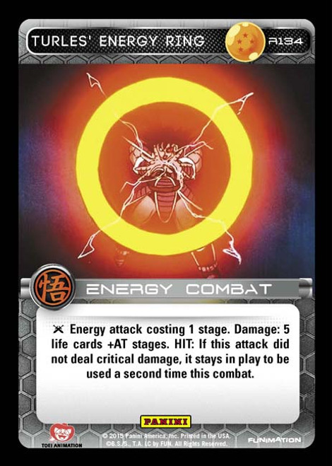 Dragon Ball Z Movie Collection Rare Turles' Energy Ring R134