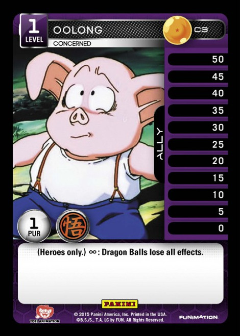 Dragon Ball Z CCG Movie Collection Common Foil Oolong - Concerned C3