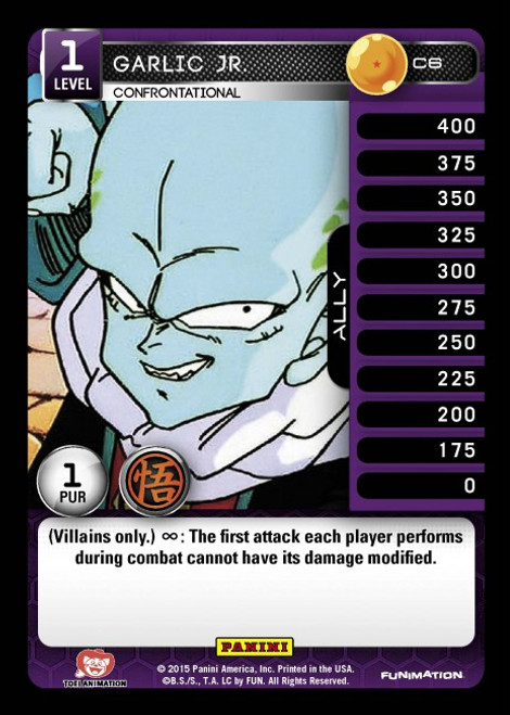 Dragon Ball Z CCG Movie Collection Common Foil Garlic Jr. - Confrontational C6