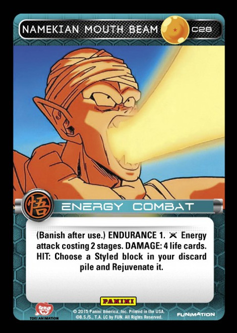 Dragon Ball Z Movie Collection Common Foil Namekian Mouth Beam C28