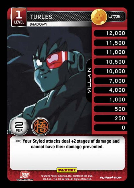 Dragon Ball Z CCG Movie Collection Uncommon Foil Turles - Shadowy U73