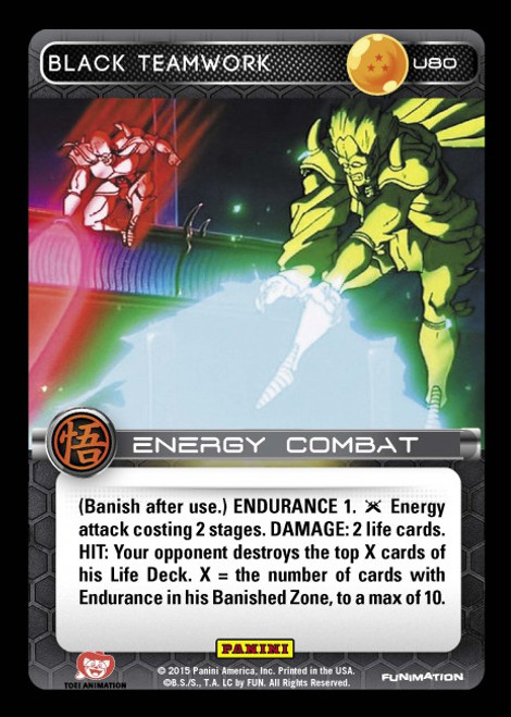 Dragon Ball Z CCG Movie Collection Uncommon Foil Black Teamwork U80